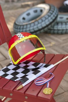 Start your engines – it's a racecar party that will zoom on by! All speedsters are suited up with a driver's helmet at the starting line and awarded with a winner's medal at the finish – you never kno