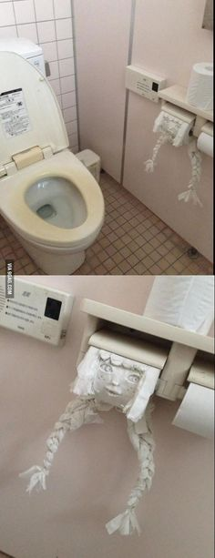 Someone was bored in a toilet in Japan