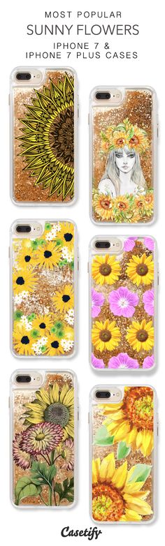 Most Popular Sunny Flowers iPhone 7 Cases & iPhone 7 Plus Cases. More sunflower liquid glitter protective iPhone case here > https://www.casetify.com/en_US/collections/iphone-7-glitter-cases#/?vc=U6JQcGXfwq