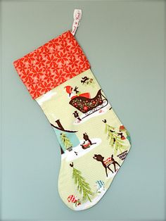 Modern Christmas Stocking  Alpine Wonderland  $17.00