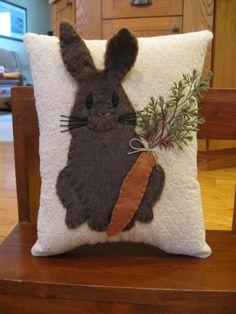 Furry Bunny Rabbit Pillow