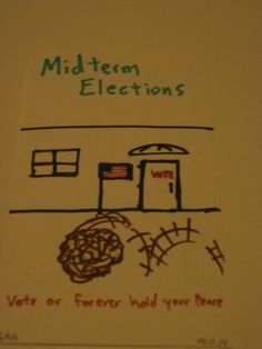 11-4-2014  Political Cartoon of the day - Tumbleweeds and Midterm Elections : Vote or forever hold your peace