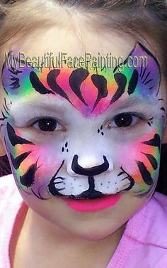 Beautiful Face Paint that have been painted in the greater Tulsa Area. Face Paint at the Zoo. Face Painter for Tulsa Parties.
