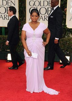 Frank Octavia Spencer Celebrity Dresses The 89th Academy Awards Oscar 2017 Red Carpet Silver Satin Lace Celebrity Gowns Feathers Dress Weddings & Events