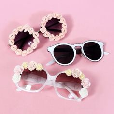 sunglasses flower sunglasses girly wishlist pretty sunglasess girly rose pink funny vintage white flowers tumblr fashion