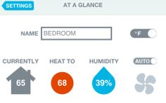 nest eco thermostat app showing usage