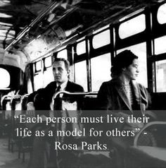 Rosa Louise McCauley was born on February 4, 1913. Happy Rosa Parks Day!