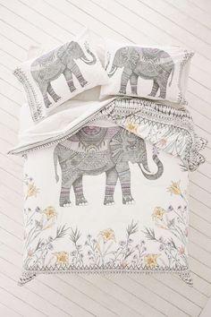 Magical Thinking Garden Elephant Duvet Cover
