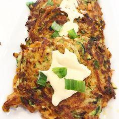 Crispy Sweet Potato & Zucchini Fritters - The Tender Tummy