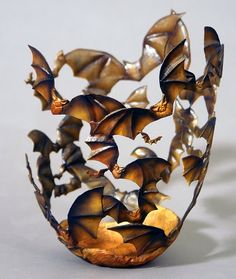 * Bat Tea Light Candle Holder *