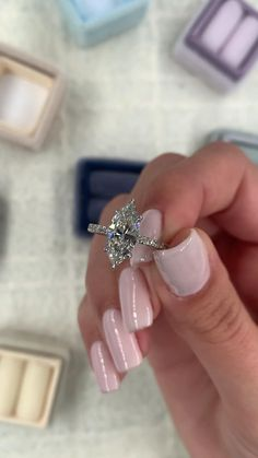 Breathtaking two carat marquise cut diamond engagement ring. Side stones and a hidden halo setting in white gold 💗 Bridesmaid Jewelry, Bridal Jewelry, Womens Jewelry Rings, Fine Jewelry, Women's Jewelry, Dream Engagement Rings, Marquee Engagement Rings, Engagement Rings White Gold, Most Beautiful Engagement Rings