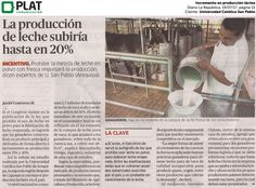 Universidad Católica San Pablo: Incremento en producción láctea en el diario La República de Perú (19/07/2017)