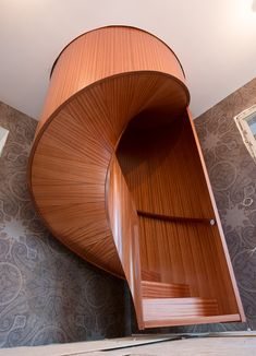 Curved Wood, Stairs, Stairway, Staircases, Ladders