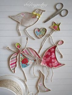 Ideas and Inspirations: DIY: Hauchschöne Papierwesen * paper art