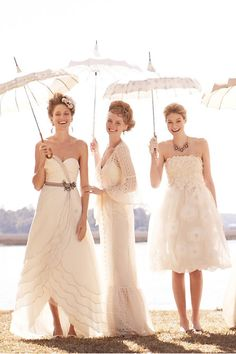 After all your friends get married, dress up in your dresses for a photo shoot.