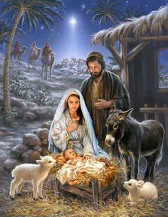 Baby Cards This is why we have Christmas. For a baby was born to be King of all Kings. Christmas Scenery, Christmas Nativity Scene, Christmas Jesus, Christian Christmas, Christmas Pictures, Merry Christmas, Nativity Scenes, Nativity Scene Pictures, Nativity Painting