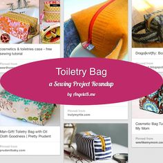 How To Make a Toiletry Bag - a Sewing Project Roundup via Angela Bowman at www.AngelaB.me