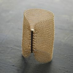 ARMBAND CLEOPATRA 14 Karat Gold Draht gehäkelt von YoolaDesign auf DaWanda.com