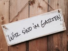 Wir sind im Garten