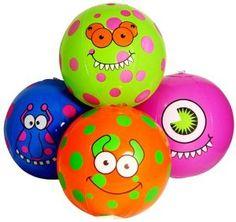 Amazon.com : Monster Beach Balls (1 dz) : Party Favors : Toys & Games