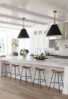 58 Unique Kitchen Island Design Ideas For Home Home Decor Kitchen, Kitchen Furniture, Home Kitchens, Bar Furniture, Modern Kitchens, Furniture Dolly, Dream Kitchens, Kitchen Ideas, Furniture Design