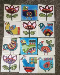 Handmade ceramic tiles ceramicart ceramic art handmade - Her Crochet Pottery Painting, Ceramic Painting, Hand Painting Art, Fabric Painting, Ceramic Art, Painting Patterns, Azulejos Art Nouveau, Art Populaire, Madhubani Art