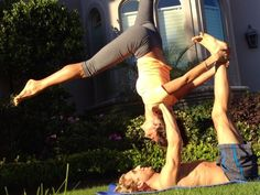 Fun snapshot of my acro yoga playtime with the amazing Trent! When two people are harmoniously... pinned with Pinvolve