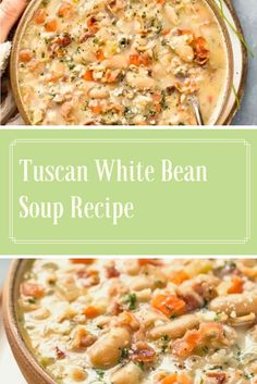 Find easy-to-make comfort food recipes like Healty recipes, dinner recipes and more recipes to make your fantastic food today. White Bean Soup, White Beans, Parmesan Rind, Bean Soup Recipes, Great Northern Beans, Bread Bowls, Healthy Drinks, Stew, Food To Make