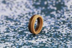 Maple and Walnut Ring - wooden ring | material: maple and walnut wood
