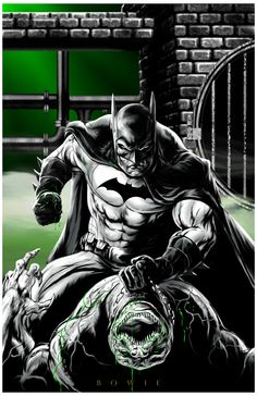 Batman vs. Killer Croc - Damon Bowie