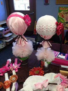 My hat and headband displays I made last minute for a vendor fair/craft show.