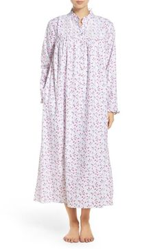 Free shipping and returns on Eileen West Floral Flannel Nightgown at Nordstrom.com. Tiny buds bloom across this cozy flannel nightgown that's perfect for cooler evenings with a high ruffled neck, long sleeves and an ankle-grazing hem.