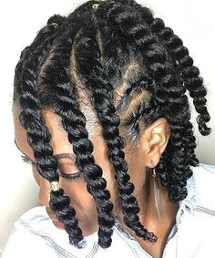 Transitional styling is perfect! these chunky twists are beautiful on 💯👑😍 . You can recreate this style with our burnt sugar pomade and shine on! Protective Hairstyles For Natural Hair, Natural Hair Twists, Natural Hair Updo, Natural Hair Care, Braided Hairstyles, Cool Hairstyles, Natural Hair Styles, Black Hairstyles, Dreadlock Hairstyles