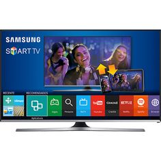 "Submarino Smart TV LED 55"" Samsung UN55J5500AGXZD Full HD 3 HDMI 2 USB 120Hz CMR R$ 2639"