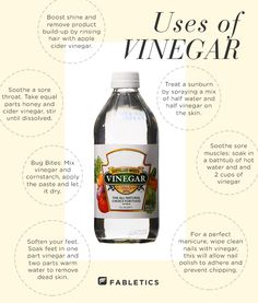 7 DIY health & beauty uses of vinegar.