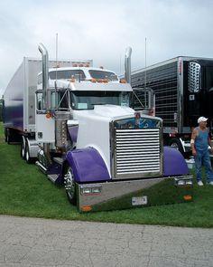 purple and white semi truck #trucking