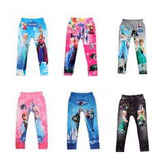 21 Styles Digital Printing Kids Pants Fashion Baby Cartoon Anna Elsa Pattern Leggings **************************************** Ali: טייץ פרוזן מכותנה לבחירה מתוך 21 דוגמאות רק מ-11 ₪ + משלוח חינם!