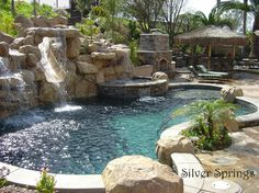 backyard pool - how great will this look in our spacious San Antonio backyard??  Someday...