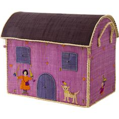 Rice DK House Toy Basket with Cat