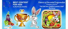 """""""Fănică şi Secretul Legumelor"""" câştigă premiul de """"Cel mai bun conţinut pentru copii """" din România Frosted Flakes, Cereal, Corn Flakes, Breakfast Cereal"""
