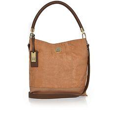 Tan slouch handbag - shoulder bags - bags / purses - women
