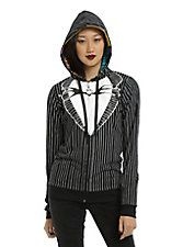 The Nightmare Before Christmas Jack & Sally Reversible Girls Hoodie,