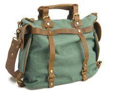 76.99$  Watch now - ROWLING green canvas men bag brand designed cow leather men laptop business bag cow leather handbag shoulder bag 4  #bestbuy