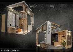 Tarkett - High Design Expo 2018 on Behance Exhibition Stall, Exhibition Stand Design, Expo Stand, Trade Show Booth Design, Showroom Design, Higher Design, Environmental Design, Stage Design, Exterior Design