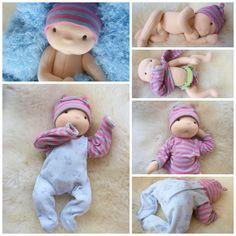 Waldorf inspired baby doll  nurture baby boy Pavlík