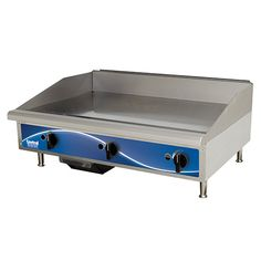 "Natural Gas Griddle - 2 Burners, 40,000 BTU, 24""W"