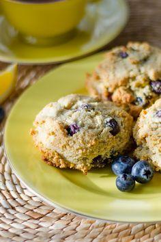Paleo Lemon Blueberry Scones #glutenfree #grainfree #dairyfree