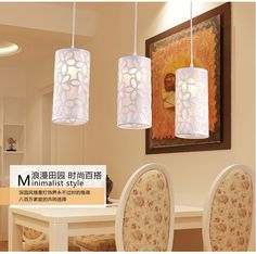 (36.00$)  Buy here  - Pastoral style simple three head led restaurant pendant creative lamps
