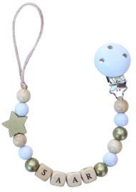 Speenkoord met naam   Lovelinn Teething Necklace, Pearl Necklace, Pearls, Jewelry, String Of Pearls, Jewlery, Jewerly, Beads, Schmuck