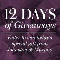 'Tis the season for giving! Enter to win shoes, coats, and more from @johnstonmurphy #giveaway #giftidea